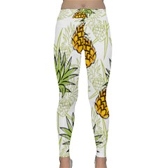 Pineapple Pattern 06 Yoga Leggings by Famous
