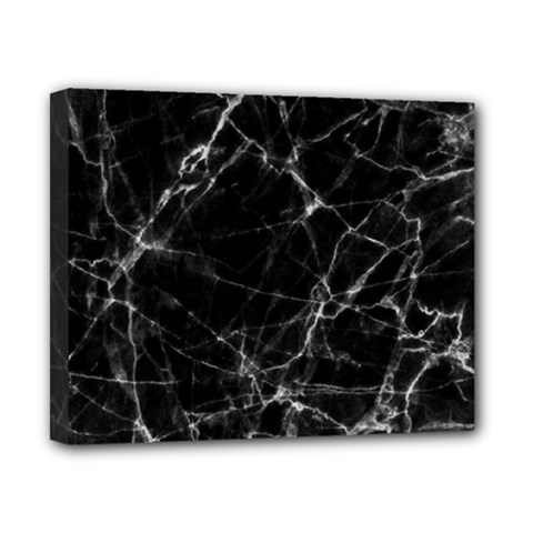 Black Marble Stone Pattern Canvas 10  X 8  by Dushan