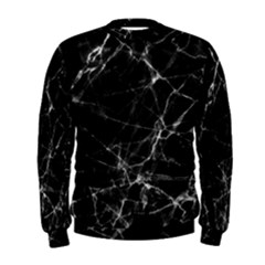 Black Marble Stone Pattern Men s Sweatshirts