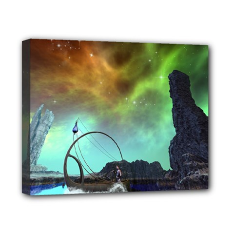 Fantasy Landscape With Lamp Boat And Awesome Sky Canvas 10  X 8  by FantasyWorld7