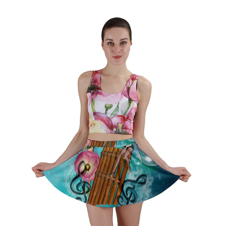 Music, Pan Flute With Fairy Mini Skirts