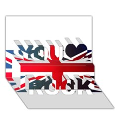 Brit2 You Rock 3d Greeting Card (7x5)