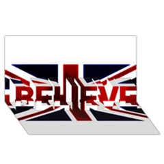 Brit10 Believe 3d Greeting Card (8x4)