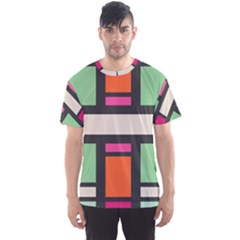 Rectangles Cross Men s Sport Mesh Tee