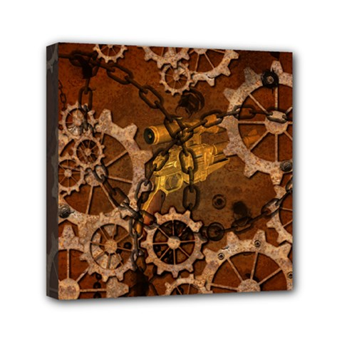Steampunk In Rusty Metal Mini Canvas 6  X 6