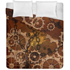 Steampunk In Rusty Metal Duvet Cover (double Size) by FantasyWorld7