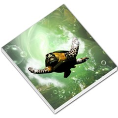 Beautiful Seaturtle With Bubbles Small Memo Pads