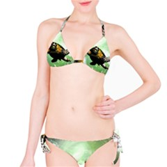 Beautiful Seaturtle With Bubbles Bikini Set
