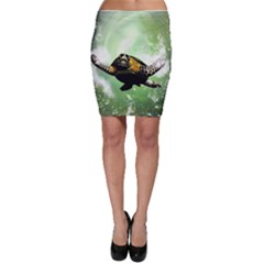 Beautiful Seaturtle With Bubbles Bodycon Skirts