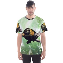 Beautiful Seaturtle With Bubbles Men s Sport Mesh Tees