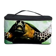 Beautiful Seaturtle With Bubbles Cosmetic Storage Cases
