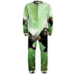 Beautiful Seaturtle With Bubbles OnePiece Jumpsuit (Men)