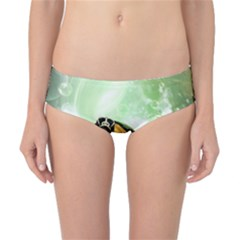 Beautiful Seaturtle With Bubbles Classic Bikini Bottoms