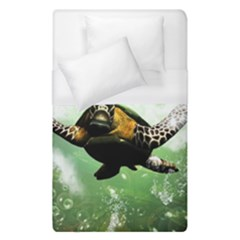 Beautiful Seaturtle With Bubbles Duvet Cover Single Side (Single Size)