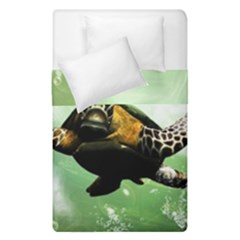 Beautiful Seaturtle With Bubbles Duvet Cover (Single Size)