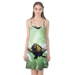 Beautiful Seaturtle With Bubbles Camis Nightgown