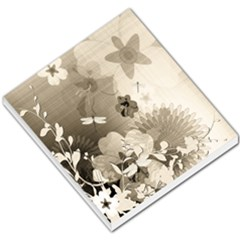 Vintage, Wonderful Flowers With Dragonflies Small Memo Pads by FantasyWorld7