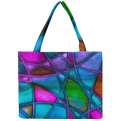 Imposant Abstract Teal Tiny Tote Bags