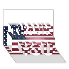 Usa3 Thank You 3d Greeting Card (7x5)  by ILoveAmerica