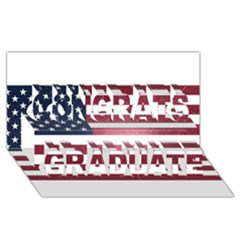 Usa3 Congrats Graduate 3d Greeting Card (8x4)  by ILoveAmerica