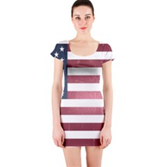 Usa3 Short Sleeve Bodycon Dresses by ILoveAmerica