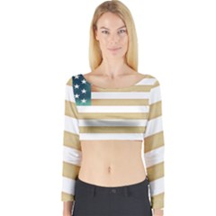 Usa7 Long Sleeve Crop Top by ILoveAmerica