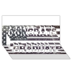 Usa9 Congrats Graduate 3d Greeting Card (8x4)  by ILoveAmerica