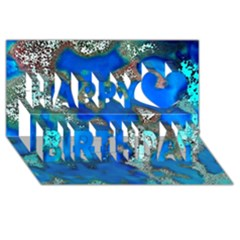 Cocos Reef Sinkholes Happy Birthday 3d Greeting Card (8x4)  by CocosBlue