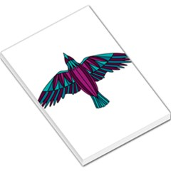 Stained Glass Bird Illustration  Large Memo Pads by carocollins