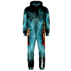 Beautiful Witch With Magical Background Hooded Jumpsuit (men)