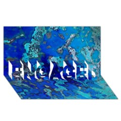 Cocos Blue Lagoon Engaged 3d Greeting Card (8x4)  by CocosBlue