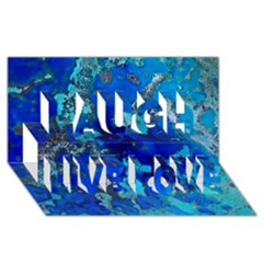 Cocos Blue Lagoon Laugh Live Love 3d Greeting Card (8x4)  by CocosBlue
