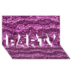 Alien Skin Hot Pink Party 3d Greeting Card (8x4)