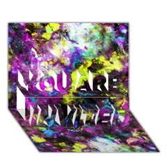 Colour Splash G264 You Are Invited 3d Greeting Card (7x5)  by MedusArt