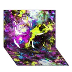 Colour Splash G264 Clover 3d Greeting Card (7x5)  by MedusArt