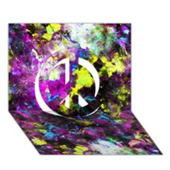 Colour Splash G264 Peace Sign 3d Greeting Card (7x5)  by MedusArt