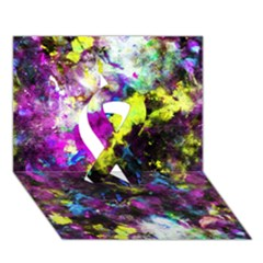 Colour Splash G264 Ribbon 3d Greeting Card (7x5)  by MedusArt