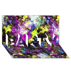 Colour Splash G264 Party 3d Greeting Card (8x4)  by MedusArt