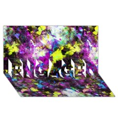 Colour Splash G264 Engaged 3d Greeting Card (8x4)  by MedusArt