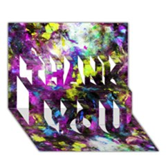 Colour Splash G264 Thank You 3d Greeting Card (7x5)  by MedusArt
