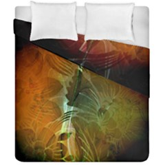 Beautiful Abstract Floral Design Duvet Cover (double Size) by FantasyWorld7