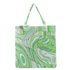 Retro Abstract Green Grocery Tote Bags by ImpressiveMoments