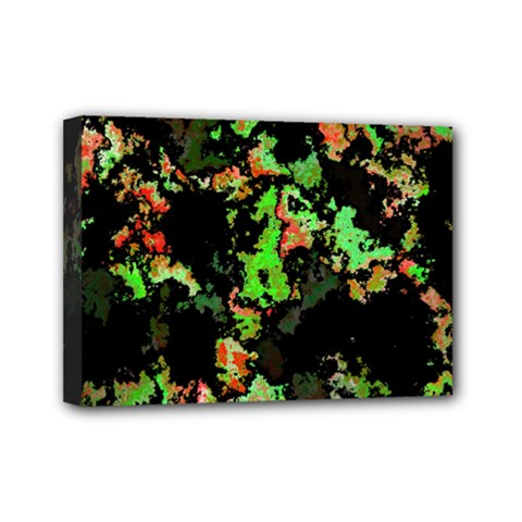 Splatter Red Green Mini Canvas 7  X 5  by MoreColorsinLife