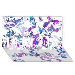Splatter White Lilac Best Sis 3d Greeting Card (8x4)  by MoreColorsinLife