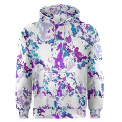 Splatter White Lilac Men s Pullover Hoodies by MoreColorsinLife
