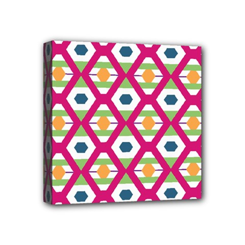 Honeycomb In Rhombus Pattern Mini Canvas 4  X 4  (stretched) by LalyLauraFLM