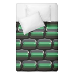 Green 3d Rectangles Pattern  Duvet Cover (single Size) by LalyLauraFLM
