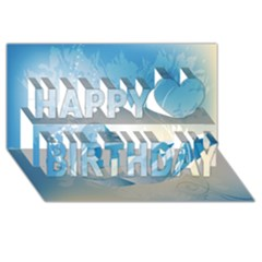 Music Happy Birthday 3d Greeting Card (8x4)  by FantasyWorld7
