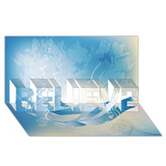 Music Believe 3d Greeting Card (8x4)  by FantasyWorld7