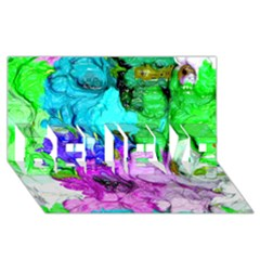 Strange Abstract 4 Believe 3d Greeting Card (8x4)  by MoreColorsinLife